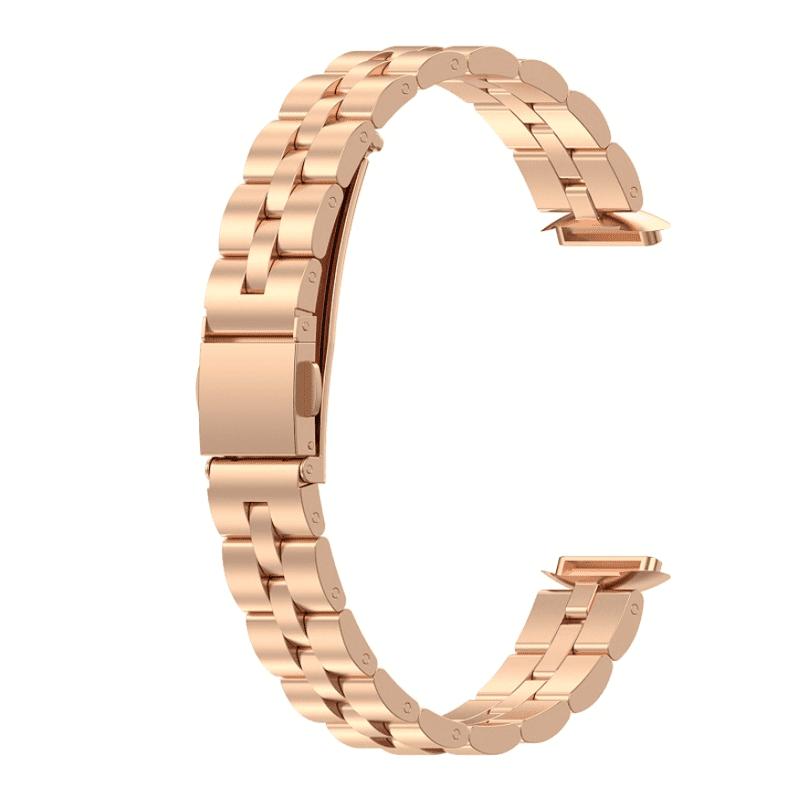 Fitbit luxe bandje roze goud rvs - Onlinebandjes.nl