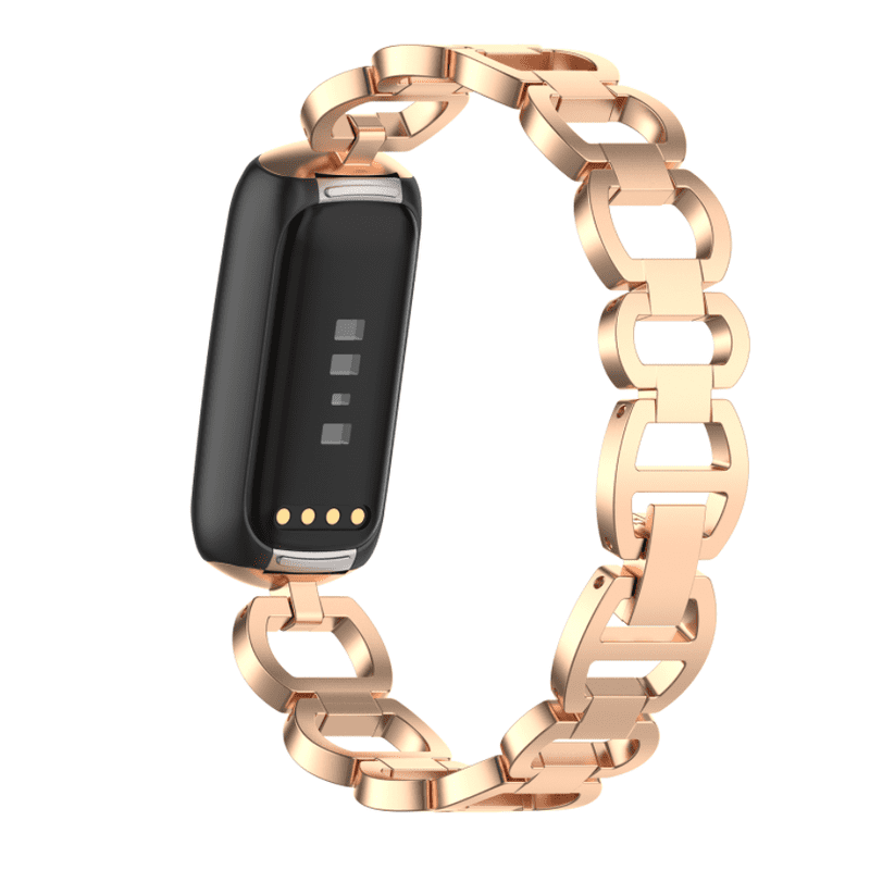 Fitbit luxe bandje rvs rose gold - Onlinebandjes.nl