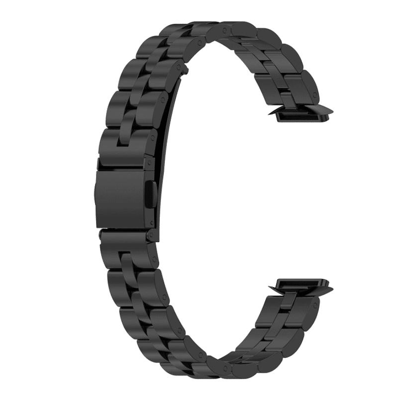 Fitbit luxe bandje zwart rvs - Onlinebandjes.nl