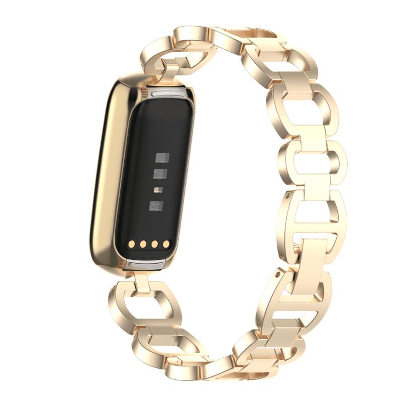 Fitbit luxe rvs bandje champagne - Onlinebandjes.nl
