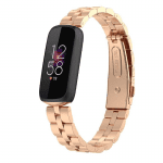 Fitbit luxe rvs bandje roze goud – Onlinebandjes.nl