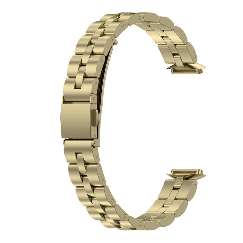 Fitbit luxe rvs official goud bandje - Onlinebandjes.nl