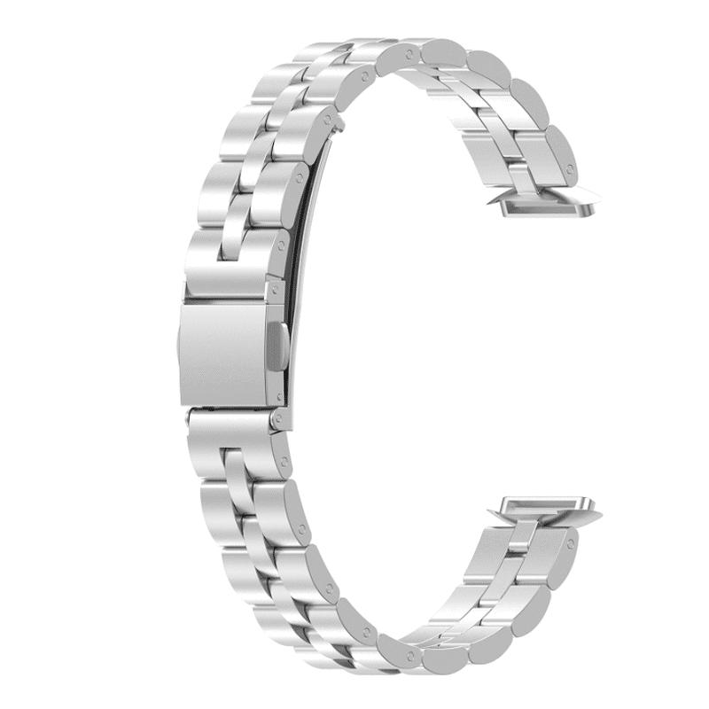 Fitbit luxe rvs zilver bandje - Onlinebandjes.nl