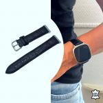 Fitbit sense bandje leer krokodillen patroon zwart – Onlinebandjes.nl