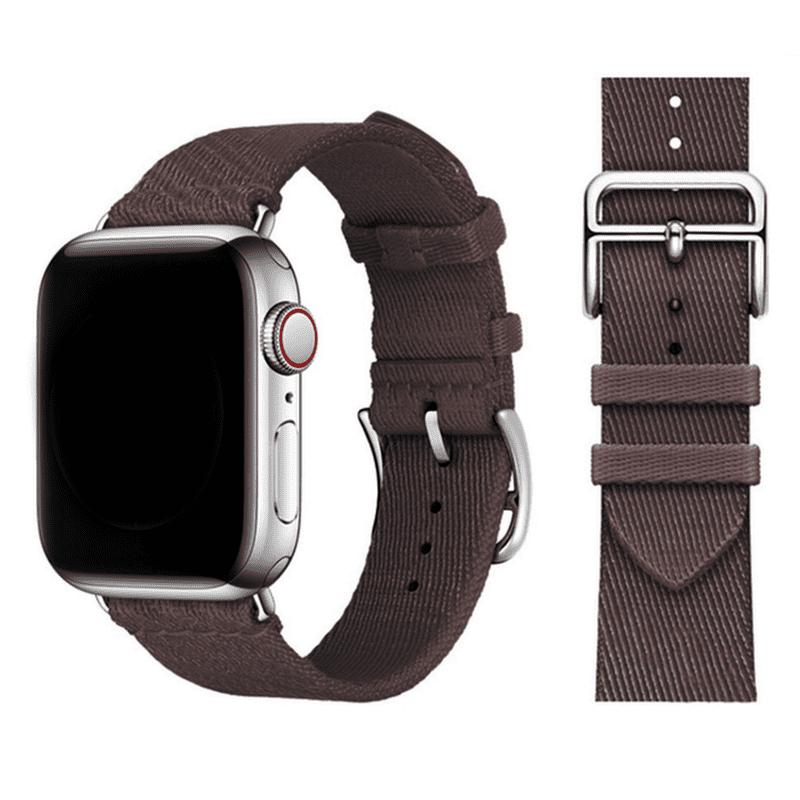 Apple Watch bandje Nylon bruin - Onlinebandjes.nl